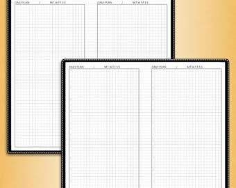 Undated DAILY planner, #U-D1 (standard inserts, standard travelers notebook insert, standard tn inserts, standard printable)