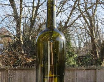 Recycled Wine Bottle Hanging Votive Holder Lantern