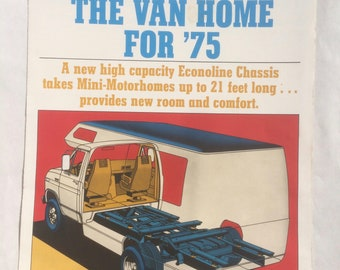 vintage 1970s 'Ford Redesigns the Van Home for '75' sales brochure