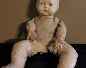 Vintage Composition Doll, Unmarked 13inches