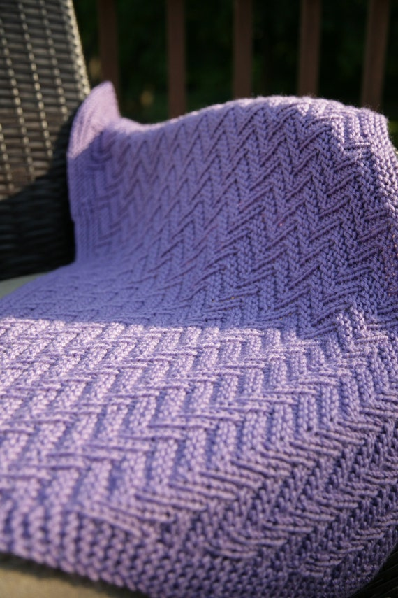 Magnífico Reversible Afghan Knitting Pattern Ideas - Manta de Tejer ...