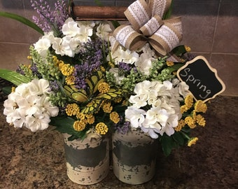 Spring rustic farm floral arrangement/Mother's Day gift