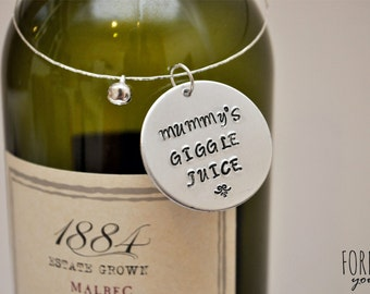 Personalised Ladies Bottle Neck Charm