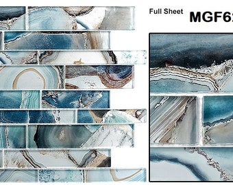 Sarasota Tile, Mosaic Glass Tile Magical Forest, 6 different colors available