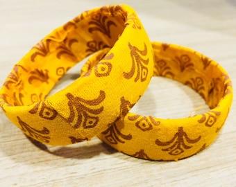 Upcycled Fabric Bangles Set of 4