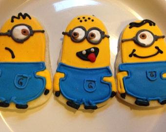 Minion Cookies (3 dozen-36 cookies)