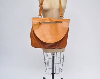 vintage leather bag satchel MAIL BAG handbag  tote messenger bag