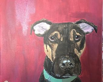 Custom Canvas Pet Painting
