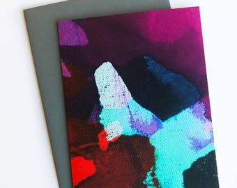 Colorful Abstract Painting Card