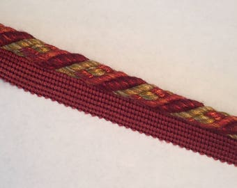 Red With Mixed Yellows -  Lip Cord By The Yard