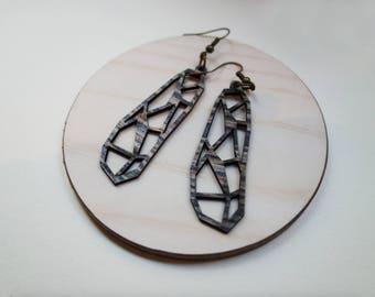 Wood earrings / DRAGONFLY