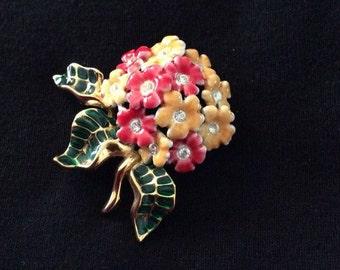 Joan Rivers Primrose Flower Brooch / Pin