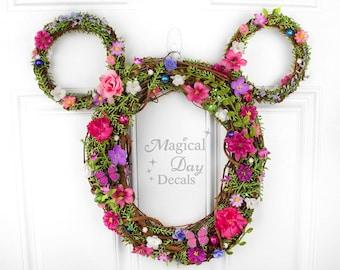 Disney Easter/Spring Mickey Wreath / Mickey Mouse Wreath / Spring Wreath / Summer Wreath / Disney / Wreath / Butterfly / Easter / Flower
