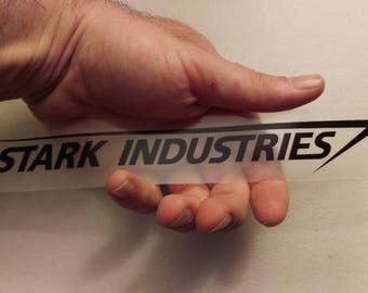 Stark Industries sticker decal Black