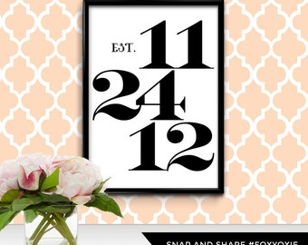 Anniversary Date Poster | Choose Your Date | Modern Wall Art | Custom Date Typography | Personalized Anniversary Gift | Digital File
