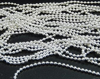 ball chain silver plated beads 5 meters