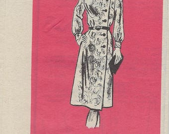 Vintage 1960s Anne Adams Mail Order Printed Pattern 4984 Misses Dress Size 14  Uncut Factory Folded