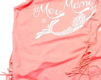Mermaid shirt | MerMama mermaid mom shirt | beach shirt hippie shirt fringe shirt