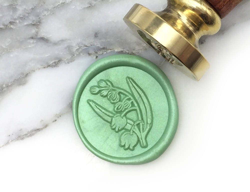 MR Botanical Wax Seal Stamp Lily of the Valley May Birth