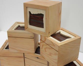 Portland Oregon Handmade Wooden Box - Reclaimed Wood - Sustainable Home Decor & Gift