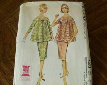 Vintage Maternity McCall's Blouse and Skirt Pattern, #5373, Size 10, 1950's