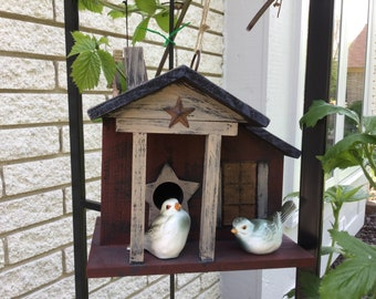 Wooden Rustic Birdhouse Fathers Day gift
