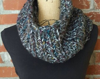 Large chunky cowl, unique, variegated, crochet