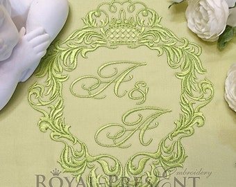 Machine Embroidery Design - Abstract vintage frame