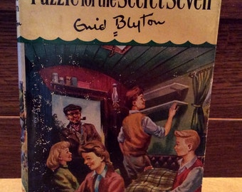 Vintage The SECRET SEVEN by Enid Blyton Puzzle For The Secret Seven 1969 Hard Cover w Dust Jacket 10th Adventure of the Secret Society NICE!