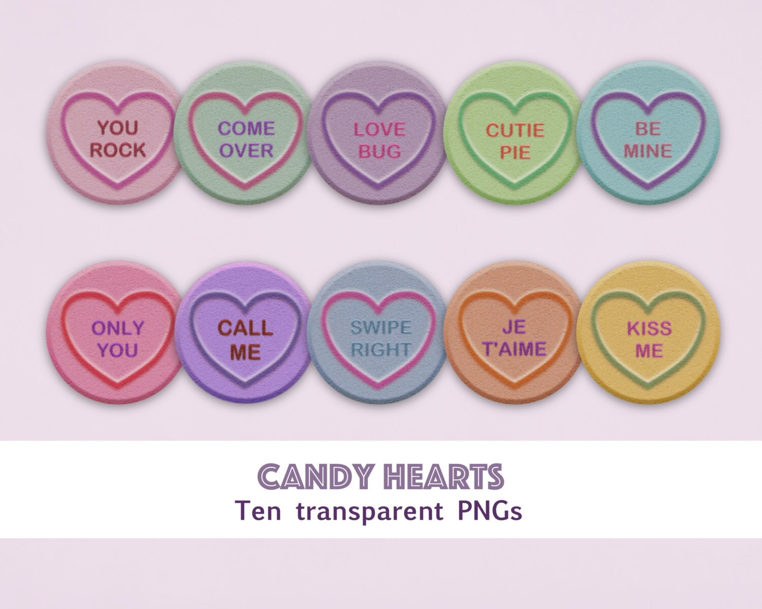 candy hearts clipart, love hearts clipart, valentine clipart, hearts