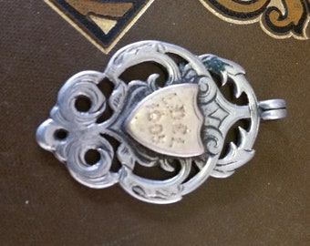 1905 Sterling Silver Hallmarked Vintage Fob Medal
