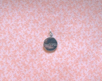 Chinese Charm Success Double Sided Sterling Silver