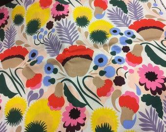 Marimekko Pikkukellukka fabric by half yard, Finland