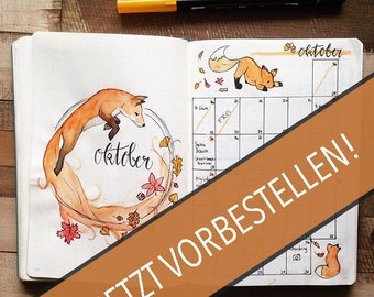 Creative planner in the bullet journal Style/half-year planner in the finished, hand-painted design/bullet Journal style complete now pre-order!