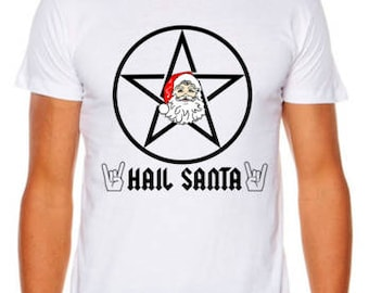 Hail Satan, I Mean Santa Christmas Funny T-Shirt