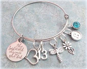 13th Birthday Girl, 13th Birthday Charm Bracelet, Teenage Daughter Gift Ideas, Girls Thirteenth Birthday Gift, 13 Year Old Girl Birthday