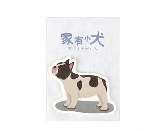 bulldog Sticky Notes, cute dog sticky note memo stick marker pads - Stick Note, Notepad, Mini Notepad