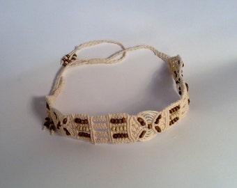 Indian Girl 2 Micro Macrame Choker Necklace