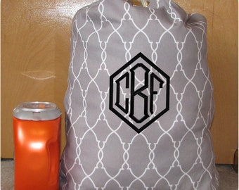 Monogrammed Laundry Bag, Graduation Gifts, Personalized Laundry Bags, Weekend Bag, Backpack, Travel Bag, College Laundry Bags, College Gifts