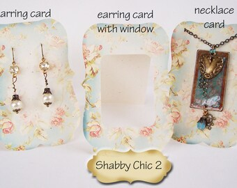 24•ZOE•SHABBY #2•Earring Cards,•Jewelry cards•Necklace Card•Earring Display•Earring Holder•Necklace Holder