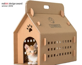 cat house, eco carry, transport box, pet carrier, cat transport, cardboard house, cardboard box, pet transport box, cat transport, cat bed,