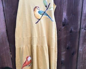 Yellow woven maxi dress