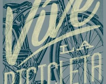Vive la Bicicleta bicycle art print