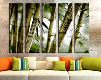 Canvas Bamboo Wall Art Bamboo Decor Bamboo Wall Art Canvas Print Wall Decor  Canvas Wall Bamboo