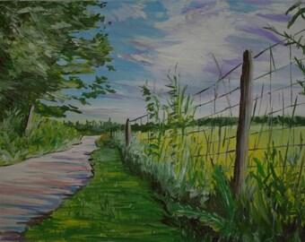 "Morning Light, 14"" x 18"", Oil on Canvas, 2017"