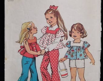 Simplicity 6301; ©1974; Child's Top, Bell-Bottom Pants and Shorts