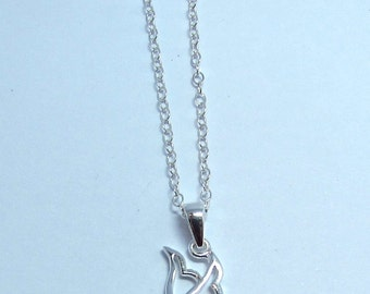 "Dove pendant on 18"" chain, Sterling silver"