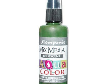 Iridescent green Aquacolor in spray bottle