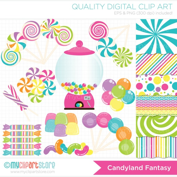 clipart combo candyland fantasy vector clipart instant rh etsy com candyland game pieces clip art candyland game pieces clip art