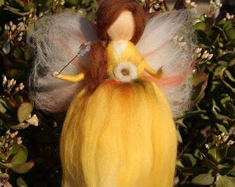 Needle felted fairy, Wool Fairy, Waldorf fairy, Felted Doll, Waldorf Inspired, Ecofriendly Nursery Decor
